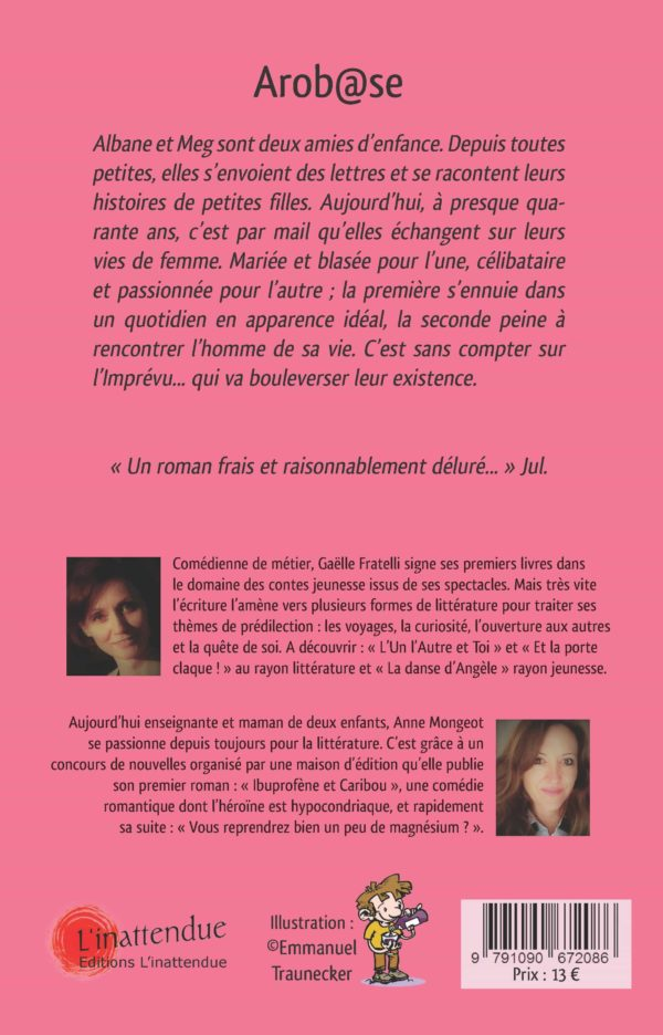 AROBASE - gaelle fratelli-anne mongeot- editions linattendue -4em COUV