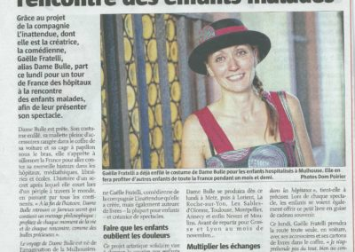 Dame Bulle - Gaëlle Fratelli- journal L'Alsace 7sept2013