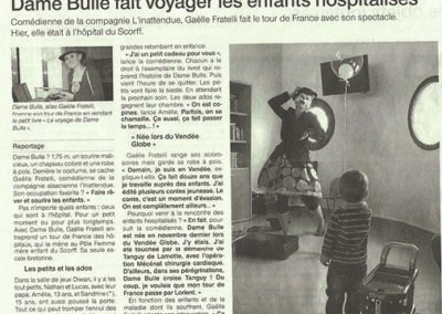 Article DAME BULLE-TOUR DE FRANCE-Lorient-Gaëlle Fratelli-sept 2013